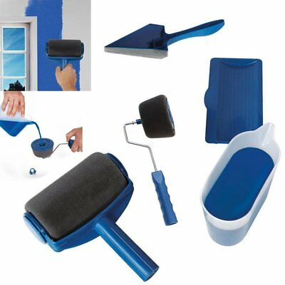 Professional 5 In 1 Paint Roller Kit Painter Facility Tools Multi Brush Set HOT