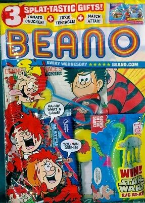 BEANO COMIC MAGAZINE 28th APRIL 2018 IN SEALED PACK WITH 3 GIFTS ~ NEW ~