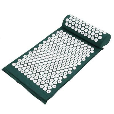 Acupressure Mat Acupuncture Bed+Pillow Spike Yoga Meditation Bed Pain Relief
