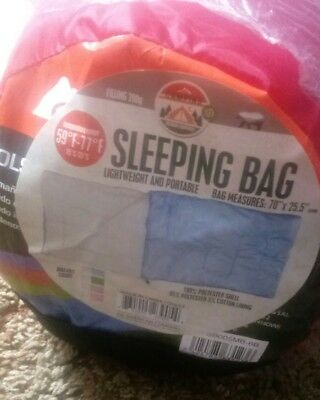 Envelope Sleeping Bag Red Light Weight And Portable Camping Outdoor New!