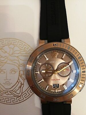 27aa4d2e VERSACE MEN'S WATCH V-Extreme Pro GMT Bronze with Extra Bezel ...