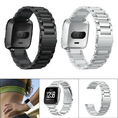 Stainless Steel Strap Silicone Band Bracelet Replacement For Fitbit Versa AA