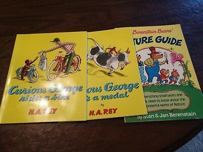 The Berenstain Bears' Nature Guide, Curious George, Rides A Bike, Gets A Medal