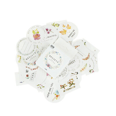 50pcs/box Flowers Paper Sealing Stickers Scrapbooking DIY Diary Album Labels  X
