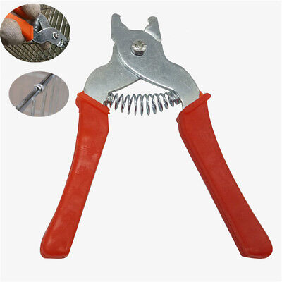 Hog Ring Pliers Tool  DIY M Clips Staple Chicken Mesh Cage Wire Fencing Netting
