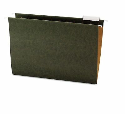 Office Impressions 1/5 Tab Hanging File Folders, Standard Green (Letter, 25 ct.)