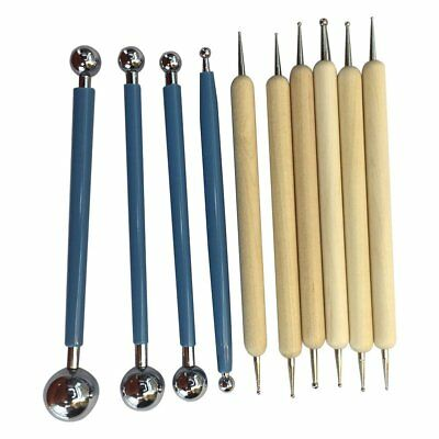 10 Piece Dotting Tools Ball Styluses for Mandala Rock Painting, Pottery Cla L4D6