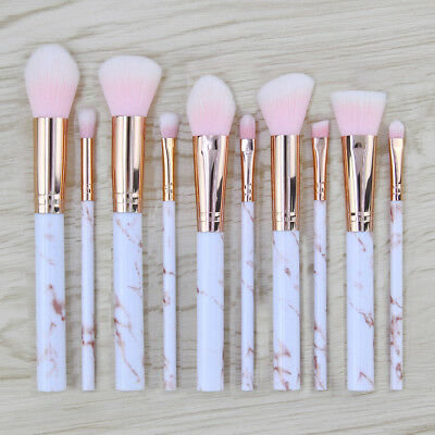 Makeup Brush Cosmetic Brush Fashion Marble Texture 5/10pcs Face Eyebrow Beauty