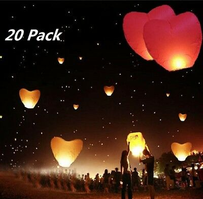 20pcs Flying Wishing Lamp Chinese Lantern Sky Lanterns Air Kongming Lantern Lamp