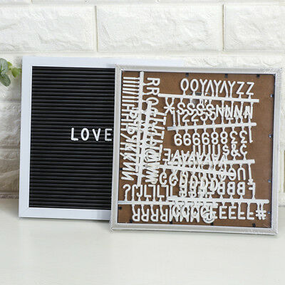 """10""""x10"""" Home Felt Letter Board Set with Plastic Letters Numbers Changeable AU"""