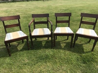Set Of 4 Early George Iv Mahogany Dining Chairs