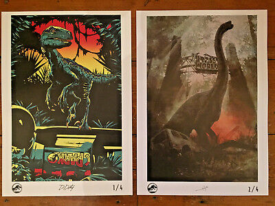 Limited Edition Jurassic World Fallen Kingdom Uk Print Posters 1 And 2 New