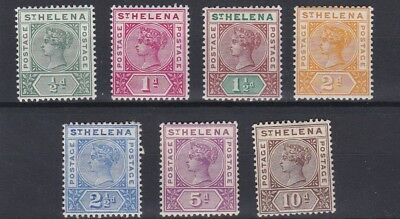 St Helena  1890 - 97  S G 46 - 52  Set Of 7  Mh