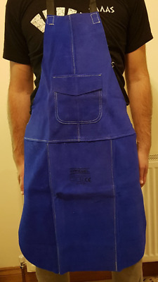Premium Blue Leather Welders / Welding / Blacksmith / Carpenters Apron 60x90cm