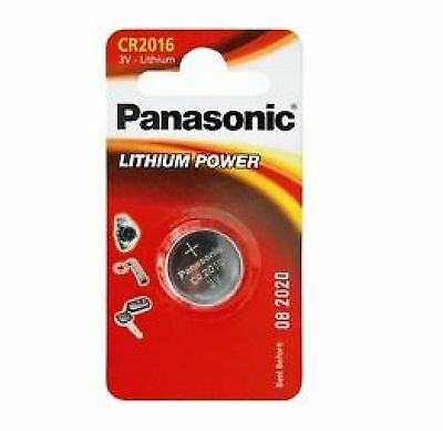 Pack of 2 Panasonic CR2016 3V Lithium Coin Cell Batteries 2016 Battery