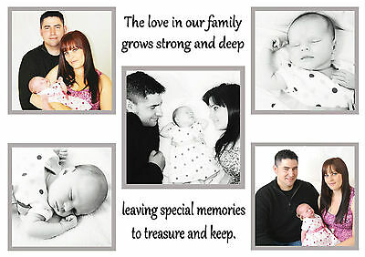 Personalised Family Word Art Collage Photo Any Image Picture Gift Home Birthday