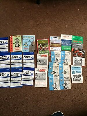 Large Collection job lot Old Football Programs