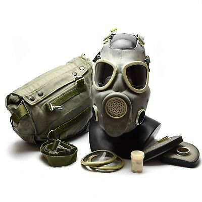 Polish Military Gas Mask MP-4 Genuine respiratory chemical Grey Olive OD NEW