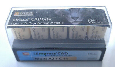 IPS Empress CAD Multi C14 A2 for CEREC and inLAB  5Stück