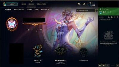 League of Legends - NA Account Unranked - Last Season Gold
