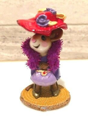 Wee Forest Folk Just Like Mommy! Red Hat Lady Mouse Ltd. Edition 2004