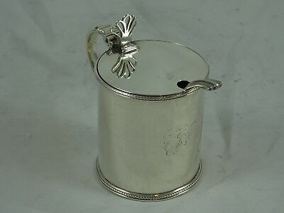GEORGE III solid silver `DRUM` MUSTARD POT, 1782