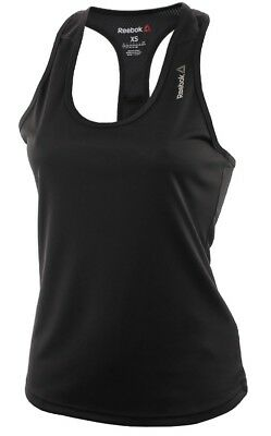 Gym Training Fitness Black Ladies Womens New Reebok Workout Vest Tank Top