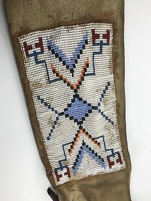 Native American Beaded Leather Pipe Bag