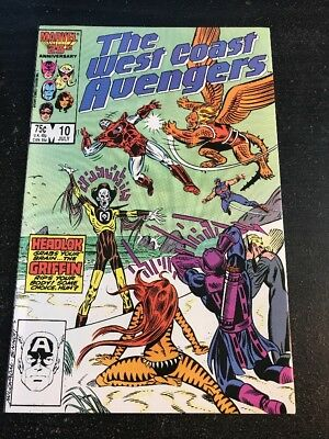 The West Coast Avengers#10 Incredible Condition 9.4(1986) Milgrom Art!!