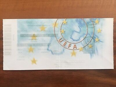 Biglietto Stadio Ticket Uefa Alaves-Inter 2000/'01