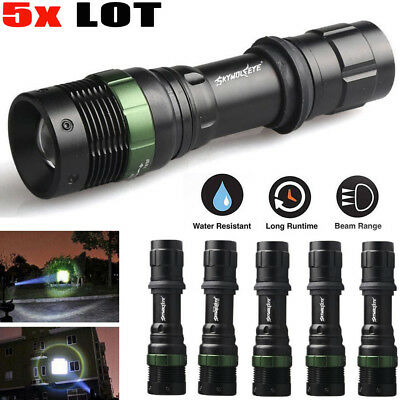 5x 20000LM 3-Modes CREE XML T6 LED Torch Light 18650 Rechargeable Flashlight AA