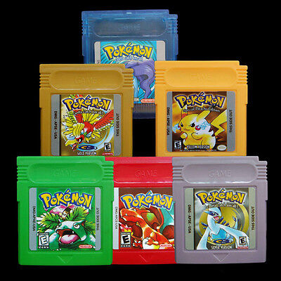 New Pokemon Cartridge For Nintendo Game Boy Color 7 Version Yellow/Gold/Red New