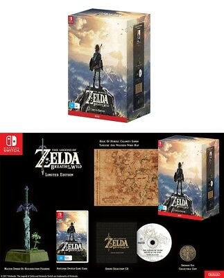 The Legend of Zelda Breath Of The Wild Rare Limited Edition Game Nintendo Switch