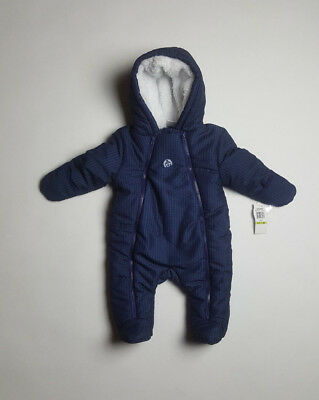 cdf0edfbf916 ABSORBA BABY BOYS Bunting Suit Coat Infant Blue Houndstooth Hooded 3 ...