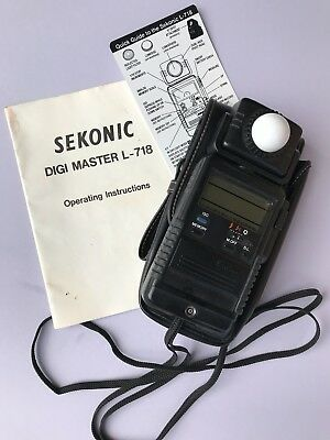 Sekonic Light Meter L-718-Comes with Quick Guide, Manual, Carry Case-Works Great