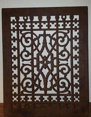 Antique Late 1800's Cast Iron Heating Grate Unique Ornate Design 13.75 X 10.75