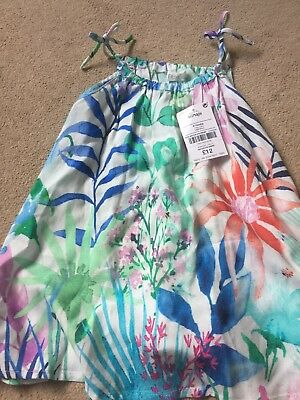Next Baby Girl Dress/Cover Up, Co-ordinates With Bathing Costume