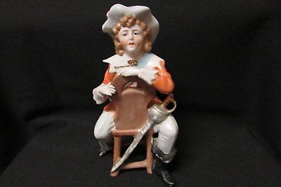 Antique Porcelain Colonial Boy Half Doll Related
