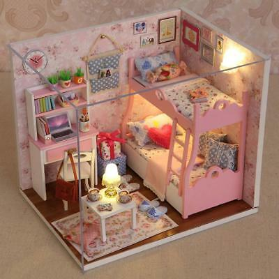 Barbie Doll House Furniture Toy Mini DIY Cottage Kit for Kids Girl Birthday Gift