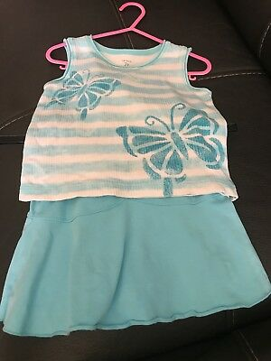 Carters Girls Skirt/short And Tshirt Set 2 Yrs