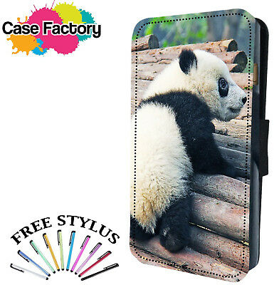 CUTE BABY PANDA BEAR CUB - Leather Flip Wallet Phone Case Cover
