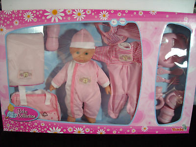 Simba 1958 Puppen-Set Baby-Collection Kinderpuppe Weichpuppe Puppe Rosa NEU  OVP