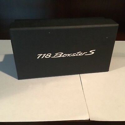 PORSCHE 718 Boxster S Model Billet Paperweight Metal Chrome Limited Edition NEW