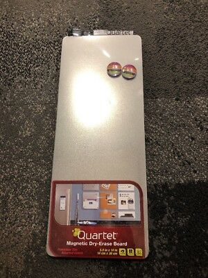 NEW Quartet Magnetic Dry-Erase Board Tile, 5.5 x 14 Inches, Frameless, Silver