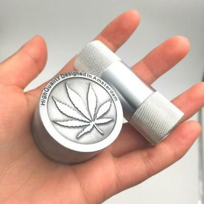 Herb Crusher 3 Parts 40MM Tobacco Crusher + 1 Aluminum Pollen Press For Weed