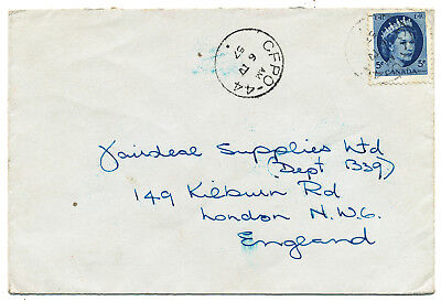 "Canada Field-Post Covers ""cfpo-44"" To England 2 Items (1957)"