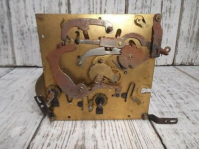 Vintage Wind Up Clock Movement Clock Spares - For Spares Or Repair - Steampunk !