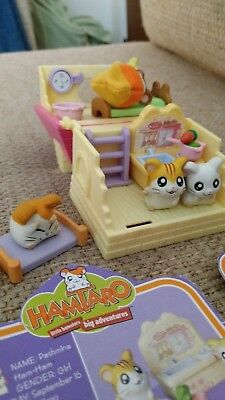 Hamtaro Ham Ham Play House Set + Bonus Items 5 ham-hams Rare
