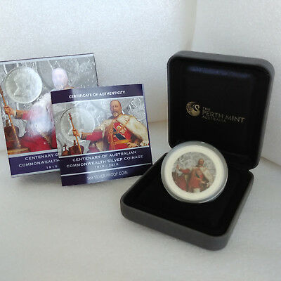 Australien 1$ 2010 Commonwealth Centenary, 1oz 999-Silber, Color, PP(proof), CoA