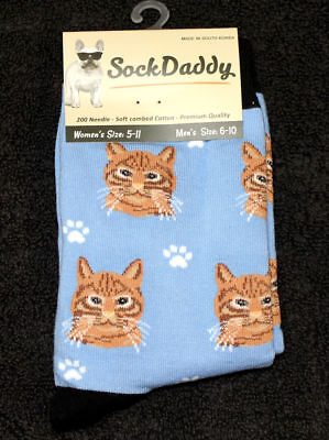 Orange Tabby Cat Breed Lightweight Stretch Cotton Adult Socks